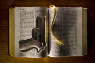 Handgun hidden in bible.