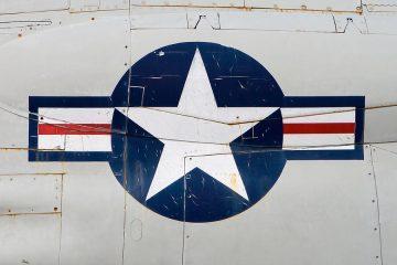 air-force-logo-on-vintage-war-plane-stephanie-mcdowell