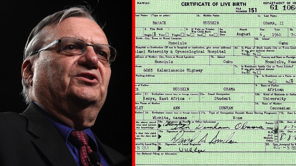 Sheriff arpaio cite source and expose 9 points of obamas birth sheriff arpaio cite source and expose 9 points of obamas birth certificate as fake the washington standard aiddatafo Images