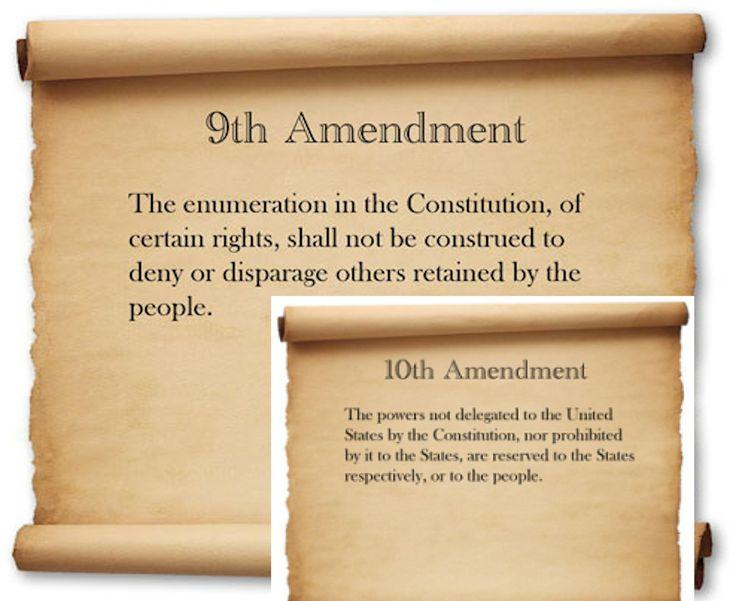 Let's Study the Constitution, Part 9: The 9th & 10th Amendments - The Washington ...