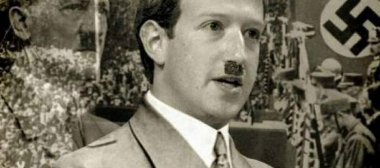 Image result for facebook nazi zuckerburg