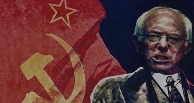 Image result for bernie sanders with soviet flag