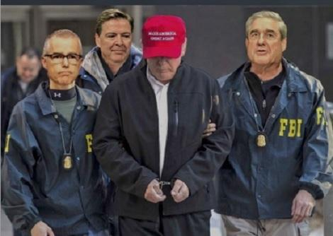 Image result for trump in handcuffs