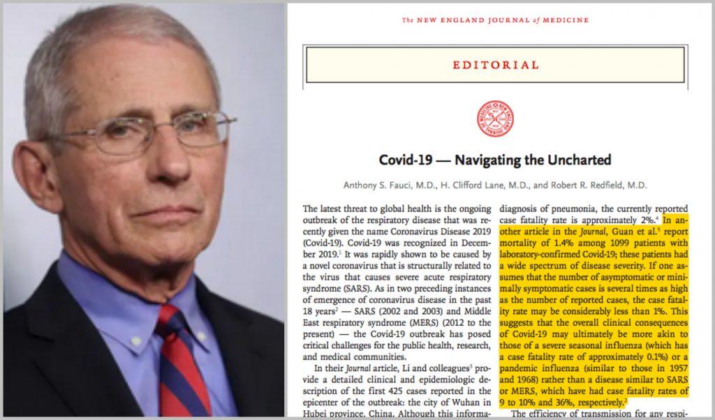 Dr. Fauci In New England Journal Of Medicine: Coronavirus ...